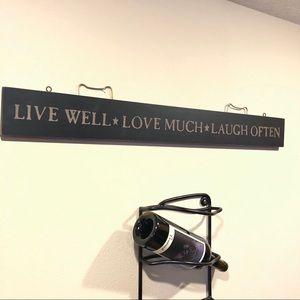 Wall Art - Live well, love much, laugh often sign